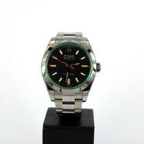 Rolex Milgauss Stahl 40mm Grün Keine Ziffern