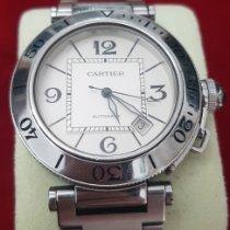 Cartier Pasha Seatimer Stahl 40mm Weiß Arabisch