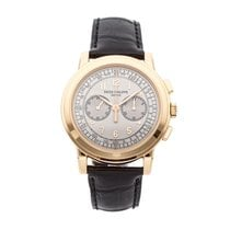 Patek Philippe Rose gold Manual winding Silver Arabic numerals 42mm pre-owned Chronograph