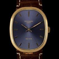 Patek Philippe Golden Ellipse Zuto zlato 27mm Plav-modar