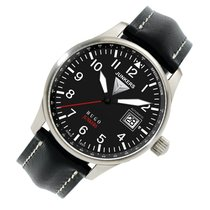 Junkers Hugo Junkers Steel 42mm Black Arabic numerals