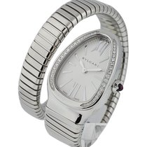 Bulgari 101827 SP35C6SDS.1T/L Serpenti in Steel with Diamond...