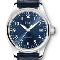 IWC Pilot's Watch Automatic 36 Staal 36mm Blauw Arabisch
