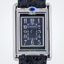 Cartier Tank Basculante, Ref 2386, S Steel, Black Dial