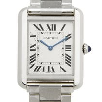 卡地亚 (Cartier) Tank Stainless Steel Silvery White Quartz W5200013