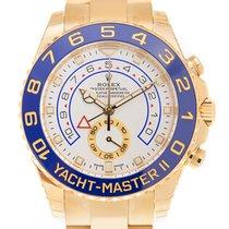 勞力士 Yacht Master II 18 K Yellow Gold White Automatic 116688