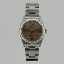 Rolex OYSTER PERPETUAL WHiTE GOLD BEZEL WiTH PAPERS 31mm