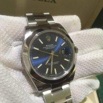 Rolex Datejust 41 Blue Index Dial oyster Bracelet 126300