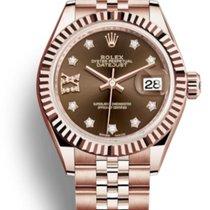 e0c9bcc84fa Rolex Lady-Datejust 28mm pink gold choco stars diamond dial 2018