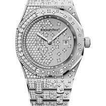 Audemars Piguet White gold Quartz No numerals 33mm new Royal Oak Lady