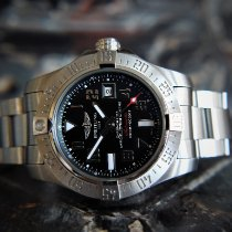 Breitling Avenger II Seawolf Steel 45mm Black Arabic numerals