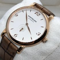 Montblanc Rose gold Automatic White 40mm pre-owned Star Classique