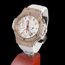 Hublot big bang rose gold white pavé
