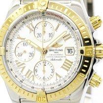 Breitling Chronomat Evolution 18k Pink Gold Steel Watch C13356...