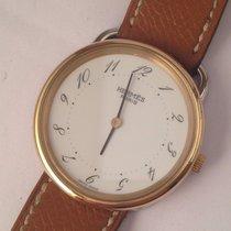 Hermès -Arceau mens / unisex gold and steel watch - Unisex -...