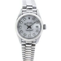 Rolex Steel Automatic Silver 25mm pre-owned Lady-Datejust