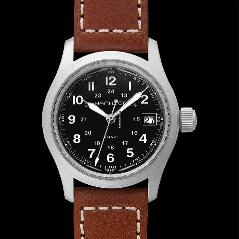 Hamilton Khaki Field Quartz Black Dial Stainless Steel Ladies Watch