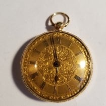 E. J. Dent 18k Gold Open-Face Key-Wind Fusee Pocket Watch 18k...