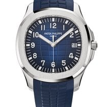 Patek Philippe Aquanaut blue dial white gold unworn 2018