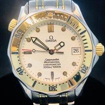 Omega Seamaster Diver 300 M Or/Acier 36mm Blanc Sans chiffres