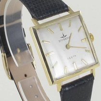 Dugena Yellow gold Manual winding Silver 28mm pre-owned Festa