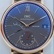 IWC Portofino Hand-Wound Rose gold 45mm Grey Roman numerals