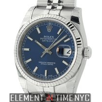 Rolex Datejust 36mm Stainless Steel & White Gold Fluted...