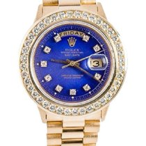 Rolex Daydate Men's 36mm Deep Blue Dial 18k Gold Bracelet