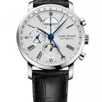 Louis Erard new Automatic Display back Small seconds Guilloché dial 42mm Steel Sapphire crystal