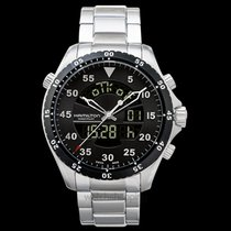 Hamilton Khaki Flight Timer Steel 40mm Black United States of America, California, San Mateo