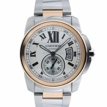 Cartier Calibre de Cartier Gold/Steel 42mm Silver Roman numerals United States of America, Maryland, Towson, MD
