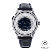 Patek Philippe World Time White gold 38.5mm Blue Arabic numerals United States of America, New York, New York