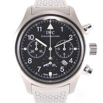 IWC Pilot Spitfire Chronograph Staal 37mm Zwart