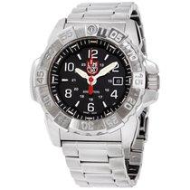 Luminox Navy Seal Steel 3250 Black Dial Stainless Steel Men's...