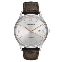 Louis Erard 47mm Automatic new 1931 Silver