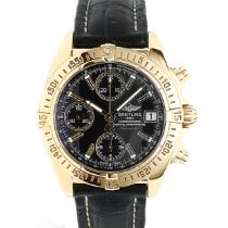 Breitling Yellow gold Automatic Black 39mm pre-owned Chrono Cockpit