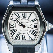Cartier Roadster Steel 40mm Silver Roman numerals
