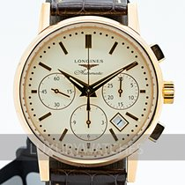 Longines Column-Wheel Chronograph Rose gold 39mm Champagne
