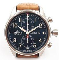 Alpina Startimer Pilot Automatic Stahl 44mm Blau Arabisch