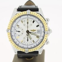 Breitling Chronomat Steel/Gold White dial 39mm (B&P2004) MINT