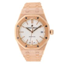 Audemars Piguet Ladies Royal Oak 37mm Frosted Rose Gold...