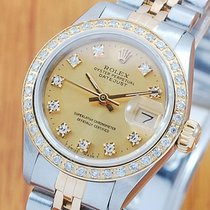 Rolex 18K Gold & SS Diamonds DateJust Automatic Women'...