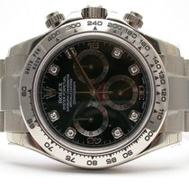 Rolex Daytona 116509 Cosmograph 18k White Gold Black Diamond...