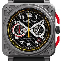 Bell & Ross Titanium Automatic Black 42mm new BR 03-94 Chronographe