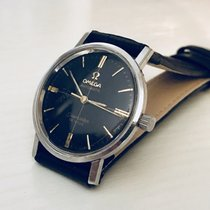 Omega Seamaster De Ville midsize black dial face crosshair watch