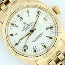 Rolex Yellow gold Automatic White Roman numerals 31mm pre-owned Datejust