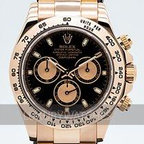 Rolex Daytona Pозовое золото 40mm Чёрный