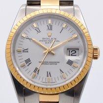 Rolex Oyster Perpetual Date Acero y oro 34mm Blanco Romanos España, Sevilla