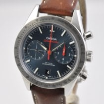 Omega Steel Automatic Blue No numerals 41.5mm pre-owned Speedmaster '57