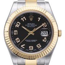 Rolex Datejust II 41 Edelstahl / Gelbgold 116333 Schwarz A